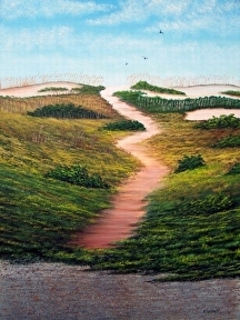 "Path To Ocean 2 by Pat Quinn Oil ~ 24"" x 18"""