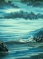"Aqua Tranquillity by Pat Quinn Oil ~ 24"" x 18"""