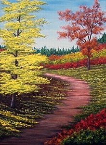 "Fall Trail 2 by Pat Quinn Oil ~ 24"" x 18"""