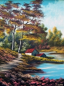 "Fall Trail by Pat Quinn Oil ~ 24"" x 18"""