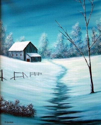 "Country Winter by Pat Quinn Oil ~ 20"" x 16"""
