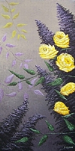 Yellow Roses-Framed Oil Painting