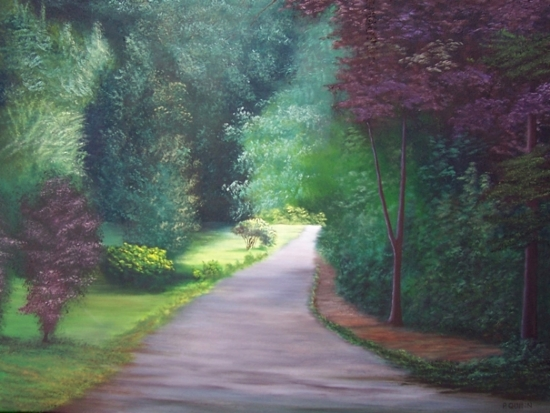 "Bellevue Avenue by Pat Quinn Oil ~ 18"" x 24"""