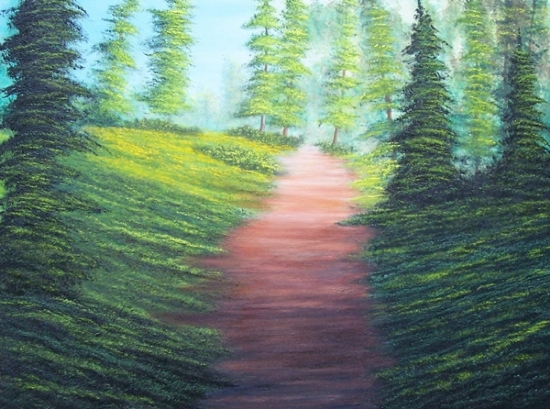 "Pine Trail by Pat Quinn Oil ~ 18"" x 24"""