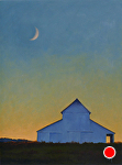 "Crescent Moon Over Giacomini Barn by Christin Coy Oil ~ 16"" x 12"""