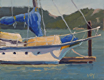 "Old Schooner by Christin Coy Oil ~ 6"" x 8"""