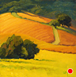 "Los Carneros Autumn Colors by Christin Coy Oil ~ 6"" x 6"""