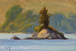 "Piglet Island Tomales Bay by Christin Coy Oil ~ 4"" x 6"""