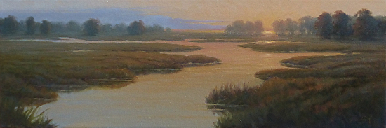 Wetlands at Dusk - Oil