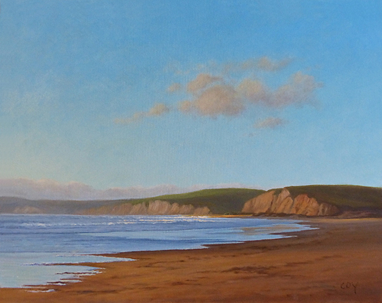 Summer Afternoon-Limantour Beach - Oil