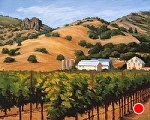 "Late Summer Afternoon Regusci Winery by Christin Coy Oil ~ 12"" x 16"""