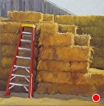 "The Red Ladder by Christin Coy Oil ~ 10"" x 10"""