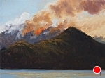 "October 13-08 Fire, Anglel Island by Christin Coy Oil ~ 6"" x 8"""