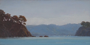 "Raccoon Strait by Christin Coy Oil ~ 8"" x 16"""