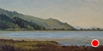 "Spring Afternoon - Bolinas Lagoon by Christin Coy Oil ~ 8"" x 16"""
