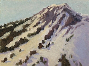 "Mt. Rose Afternoon Light by Christin Coy Oil ~ 6"" x 8"""