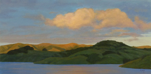 "Golden Glow-Nicasio by Christin Coy Oil ~ 8"" x 16"