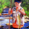 Portrait of a Child Fishing