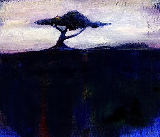 "Lone Tree No. 7 by Kathy Morton Stanion Oil ~ 7"" x 8.5"""