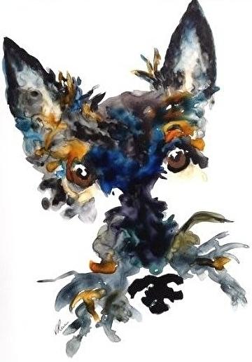 single malt by V Rae Watercolor ~  x
