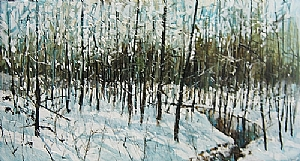 "One Winter by Dan Ryan  ~ 24"" x 48"""