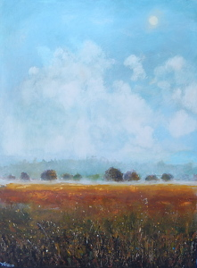 "Fogbound2 by Dan Ryan Mixed Media ~ 30"" x 40"""
