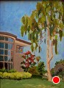 Crowell Library by Marian Fortunati Oil ~ 12 x 9