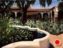 "Capistrano Quiet Pool by Marian Fortunati Oil ~ 12"" x 16"""