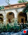 "Capistrano Mission by Marian Fortunati Oil ~ 20"" x 16"""