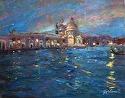 Salute A Notte by Marian Fortunati Oil ~ 11 x 14