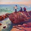 Three Fishermen On A Rock