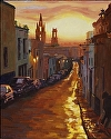 "Calle Dorado by Marian Fortunati Oil ~ 20"" x 16"""