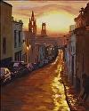 "Calle Dorado by Marian Fortunati Oil ~ 20"" x 16"""