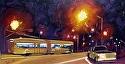 Night Riders by Marian Fortunati Oil ~ 8 x 16