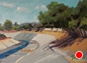 L.A. Waterway I by Marian Fortunati Oil ~ 5 x 7