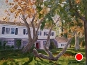 "Huntington House by Marian Fortunati Oil ~ 9"" x 12"""