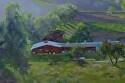 "Pierce College Barn by Marian Fortunati Oil ~ 12"" x 18"""
