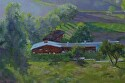 "Pierce College Barn by Marian Fortunati Oil ~ 12"" x 18"""