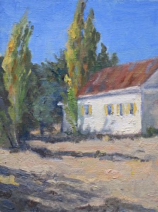 Murphys Flats Schoolhouse study by Marian Fortunati