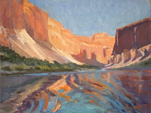 Marble Canyon Reflections   9x12 O/C