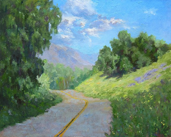 Beyond A Sunny Hillside - Oil