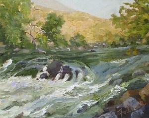 """Kern River Rapids by Marian Fortunati Oil ~ 8"""" x 10"""""""