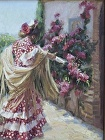 Sunday Visit to the Mission by Gladys Roldan-de-Moras Oil ~ 12 x 16