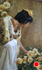"""New Beginnings"" (detail) by Gladys Roldan-de-Moras Oil ~ 48 x 24"