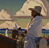 The Sun Sets Every Day by Logan Hagege Oil ~ 40 x 40