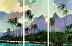 Moonlit-Paradise_Triptych by Darrell Hill