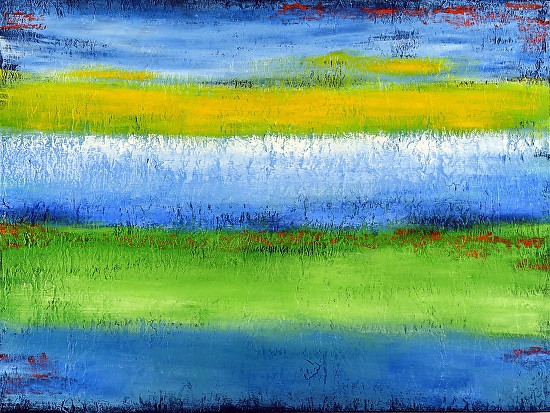 #Spring Meadow - Mixed Media with acrylic paint