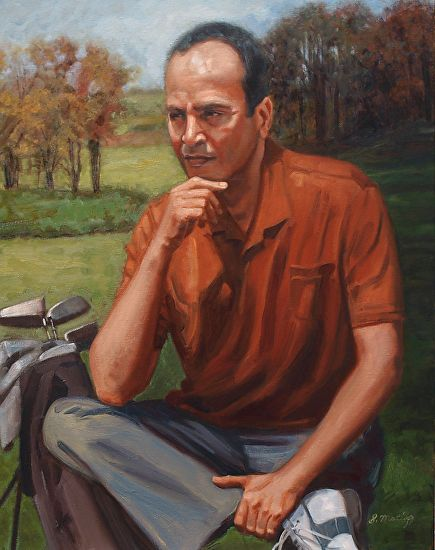 Portrait of Chuck - Oil