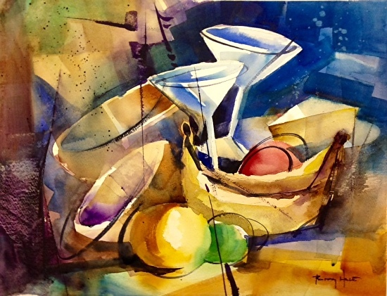 Happy Hour - Watercolor