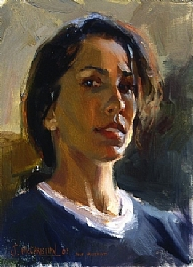 Self Portrait at 36 by Jennifer McChristian Oil ~ 12 x 9